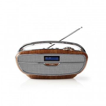 Digital DAB + radio | 60 W | FM | Bluetooth® | Brun/sølvfarge